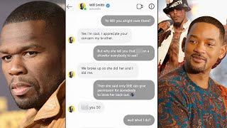 Will Smith CURSES OUT 50 Cent in DMs Over Jada Pinkett Smith's Fling With August Alsina