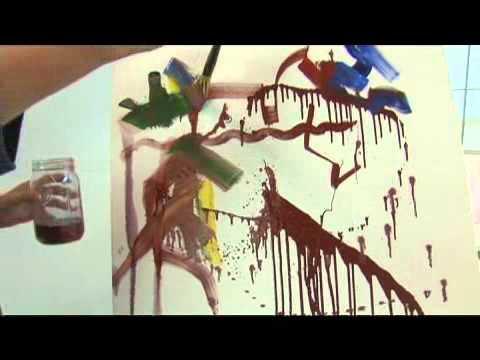 Expressionist Portrait Paint Marking: Turpentine