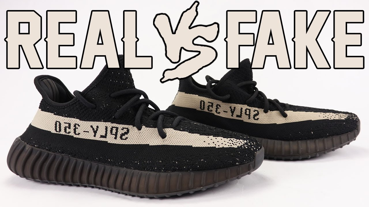 on sale 06d18 f7e00 Real vs Fake adidas Yeezy Boost 350 V2 Oreo Black White Legit Check