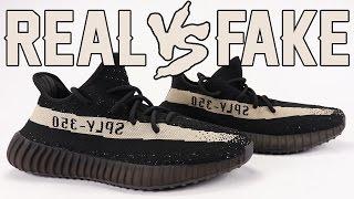 Real vs Fake adidas Yeezy Boost 350 V2 Oreo Black White Legit Check