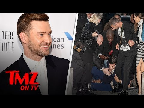 Justin Timberlake Attacked By Prankster Outside Louis Vuitton Show   TMZ TV