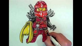 How to Draw KAI#NINJAGO#LEGO