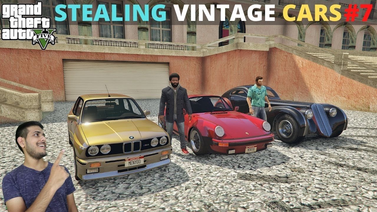 STEALING VINTAGE BMW, PORSCHE & Z-TYPE FROM VICE CITY | GTA 5 GAMEPLAY #7
