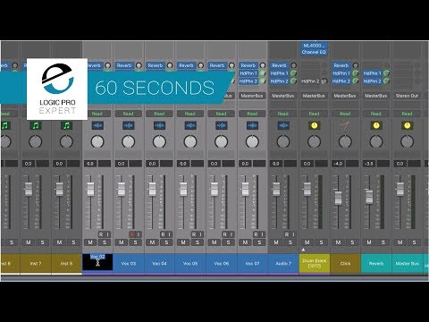 Rename And Number Multiple Channel Strips Sequentially in Logic Pro X