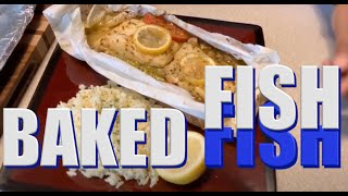 How to make Amazing baked fish in parchment Paper