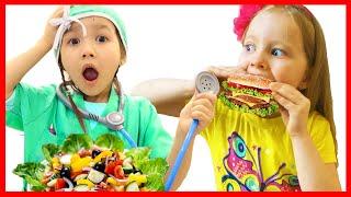Милли и ее подруга Амми делают себе кушать или история забавных детей