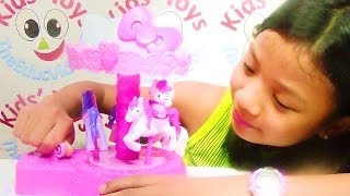 Hello Kitty Fun Fair Carousel By Sanrio - Music Box Toy