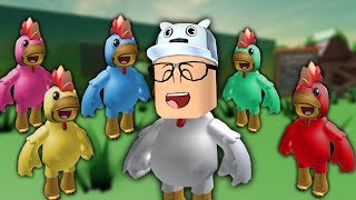 ROBLOX: I WENT TO THE WORLD OF COLORFUL WACKY CHICKENS!! -Play Old man