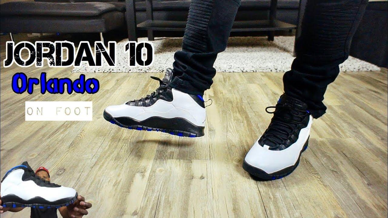 best service 93b25 a288e Jordan 10 Orlando On Feet!!