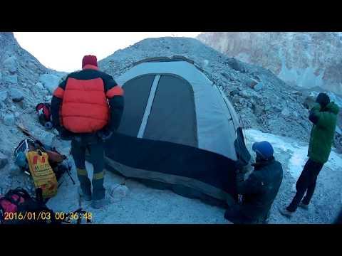 Winter Snow Lake Trek 2016 | Setting Up The Campsite | Trekking In Pakistan