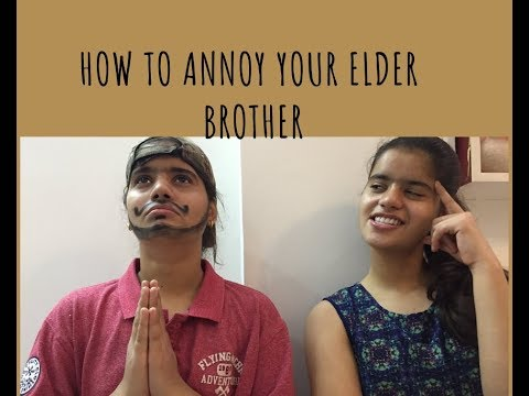 HOW TO ANNOY YOUR ELDER BROTHER | The Twin Sisters