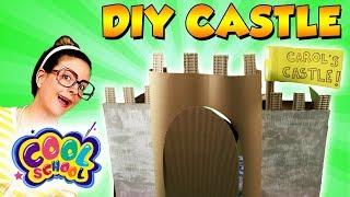 LIFESIZED CASTLE DIY! How To Make a Cardboard Princess Castle! | Arts and Crafts with Crafty Carol