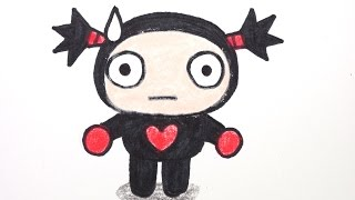 How to draw Garu from Pucca #003 뿌까의 가루 그리기 cute かわいい 可愛 Emoticon Characters 캐릭터 예쁜 손그림 그리는 법