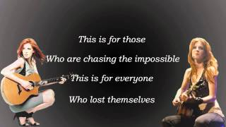 Chasing The Impossible -Elske DeWall- (with lyrics)