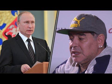 مارادونا: بوتين ظاهرة وترامب بطل الكومكس