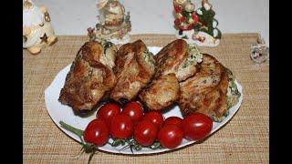 Свинная корейка фаршированная шпинатом и творожным сыром Вкусное и мягкое мясо