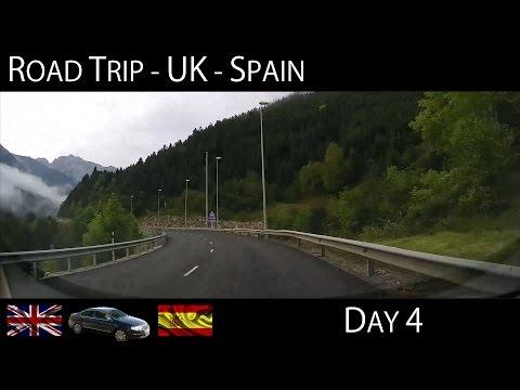 Road Trip UK to Spain - Day 4 (Via Pyrenees & Zaragoza) Time Lapse