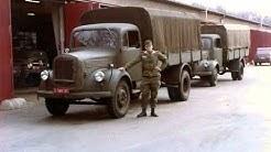 BERLIN camions Mercedes et Unimog des Forces Francaises à Berlin