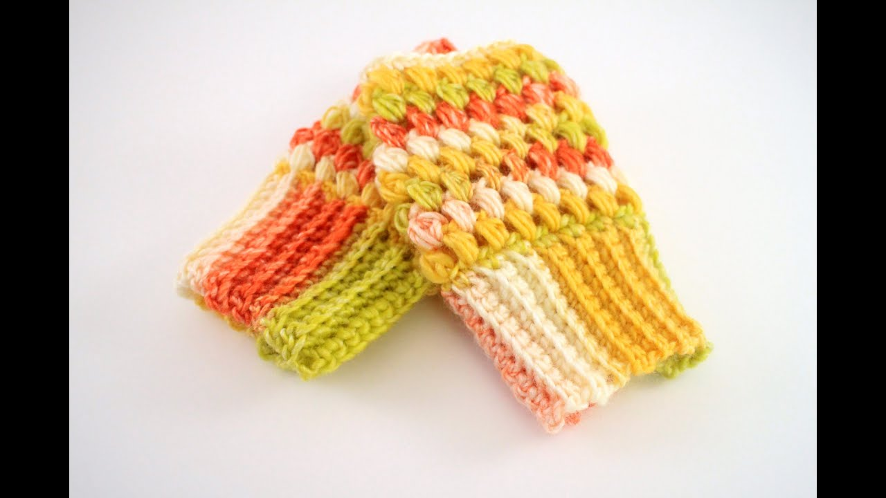 How to crochet puff stitch fingerless gloves youtube bankloansurffo Image collections