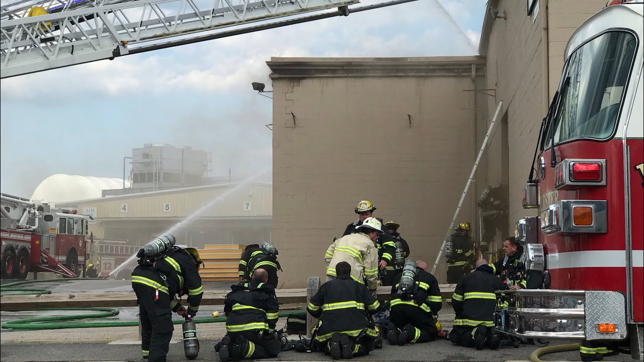 Fire at A&D Cold Storage in Worcester