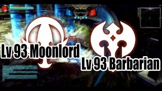 Dragon Nest CN - Pvp SHowmatch Lv 93 Moonlord vs Barbarian #Awakening SKill