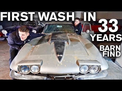 First Wash in 33 Years Chevrolet Corvette Stingray