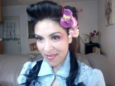 Geisha Inspired Pin Up Hair - YouTube