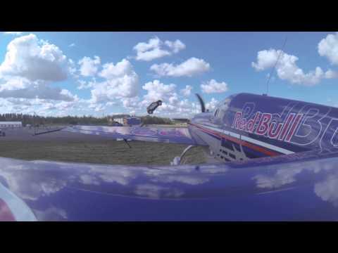 Martin Sonka & Marek Rejman - car jump over the flying plane Finland