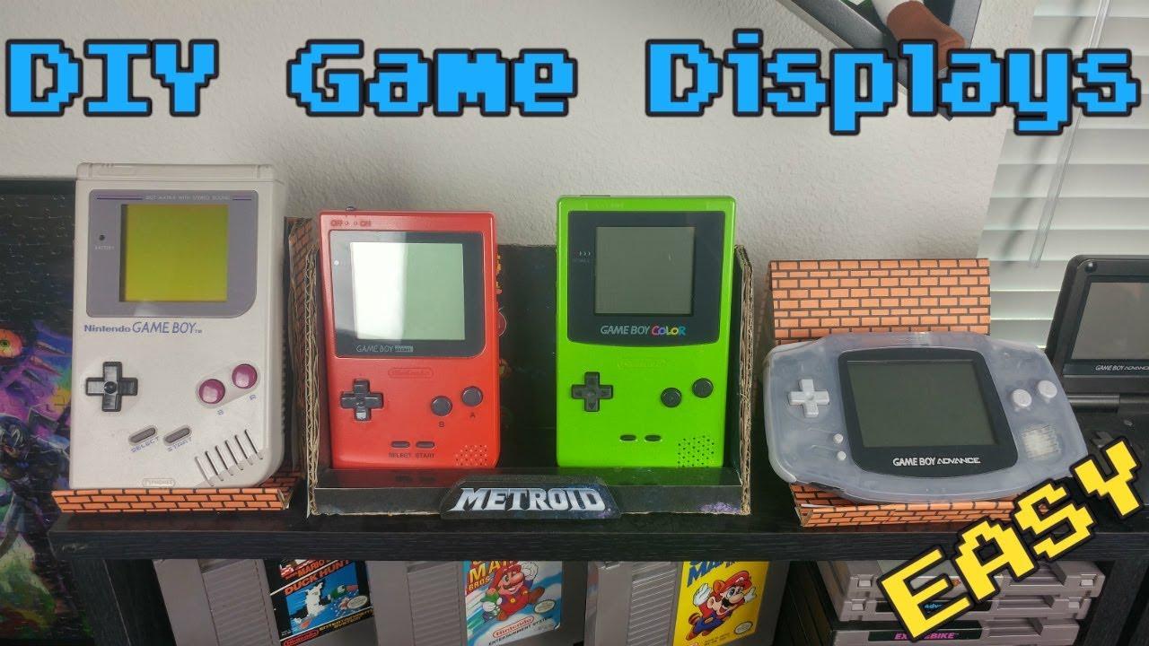 Easy Diy Game Display Game Room Ideas Youtube
