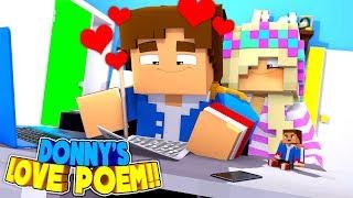 Minecraft LEAH FINDS LITTLE DONNY'S SECRET POEM FOR THE GIRL HE LOVES!!
