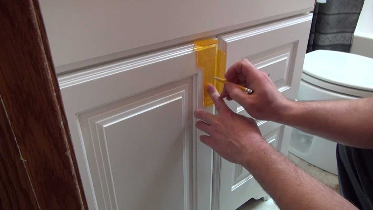 Kitchen Cabinet Handle Template Part - 29: Installing Cabinet Hardware - YouTube