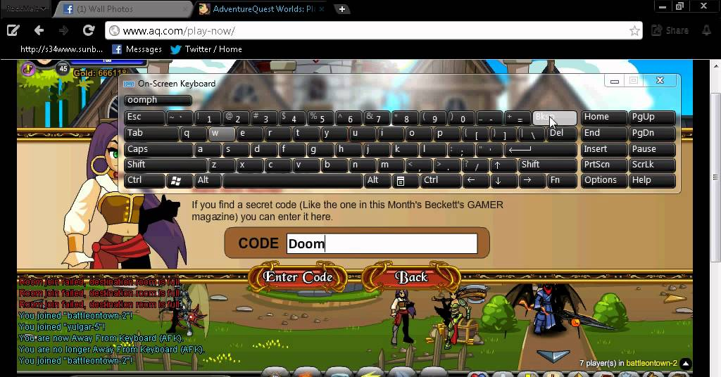 DoomFire code sept 1 2012 AQW - YouTube