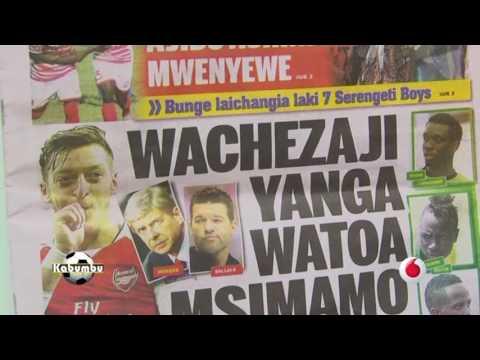UCHAMBUZI WA MAGAZETI YA MICHEZO LEO .*  9/2/2017