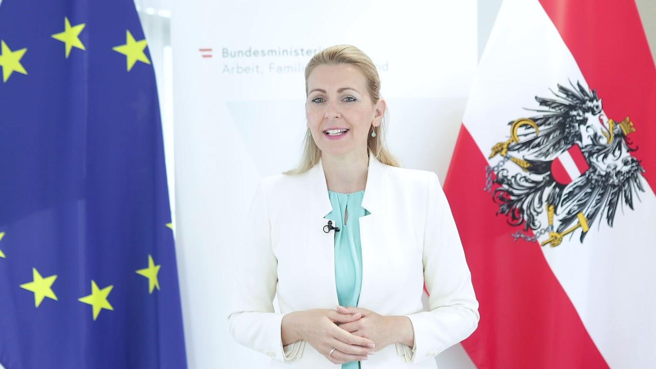 Bm In Christine Aschbacher Bmafj Videobotschaft Zur Verleihung Des Gsu 2020 Youtube