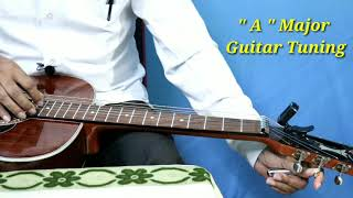 a - major guitar tuning with octave || hawaiian guitar tutorial by bk ghosh || essential lesson||