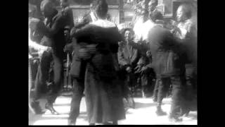 American dancers in 1914, jazz dance in a black club with Kid Ory's 'Ballin' the Jack'