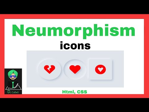 Neumorphism icons with Html, CSS    #code #coding #css