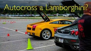 homepage tile video photo for $80 to Autocross a LAMBORGHINI?!