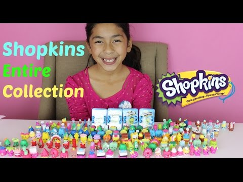 HUGE SHOPKINS COLLECTION 200 Shopkins+ 4 Shopkins Baskets|B2cutecupcakes