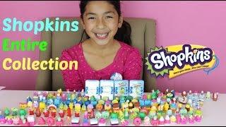 HUGE SHOPKINS COLLECTION 200 Shopkins+ 4 Shopkins Baskets|B2cutecupcakes