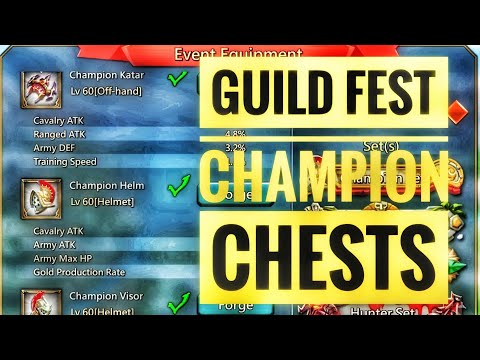 Lords Mobile - F2P Champ Chests, Guild Fest Rewards