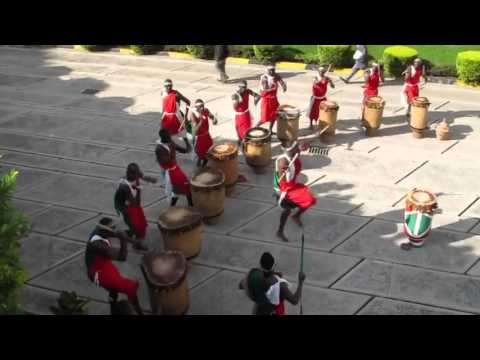 The Royal Drummers and Dancers of Burundi- AICC Convention Center in Arusha Tanzania