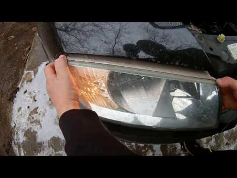 замена ламп ближнего и дальнего света шкода а5