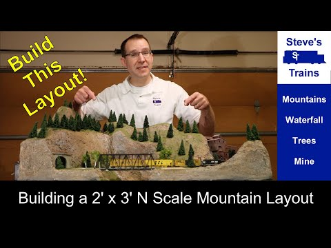 Colorado Loop Layout Build: a 2×3 foot N scale model railroad