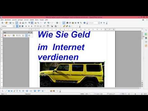 OpenOffice Bilder einfügen- Bild neben Text- Bild als Hintergrund