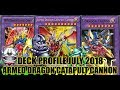 BEST! OJAMA ABC ARMED DRAGON CATAPULT CANNON VWXYZ! DECK PROFILE! (JULY 2018) YUGIOH!
