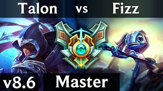 TALON vs FIZZ (MID) /// Korea Master /// Patch 8.6