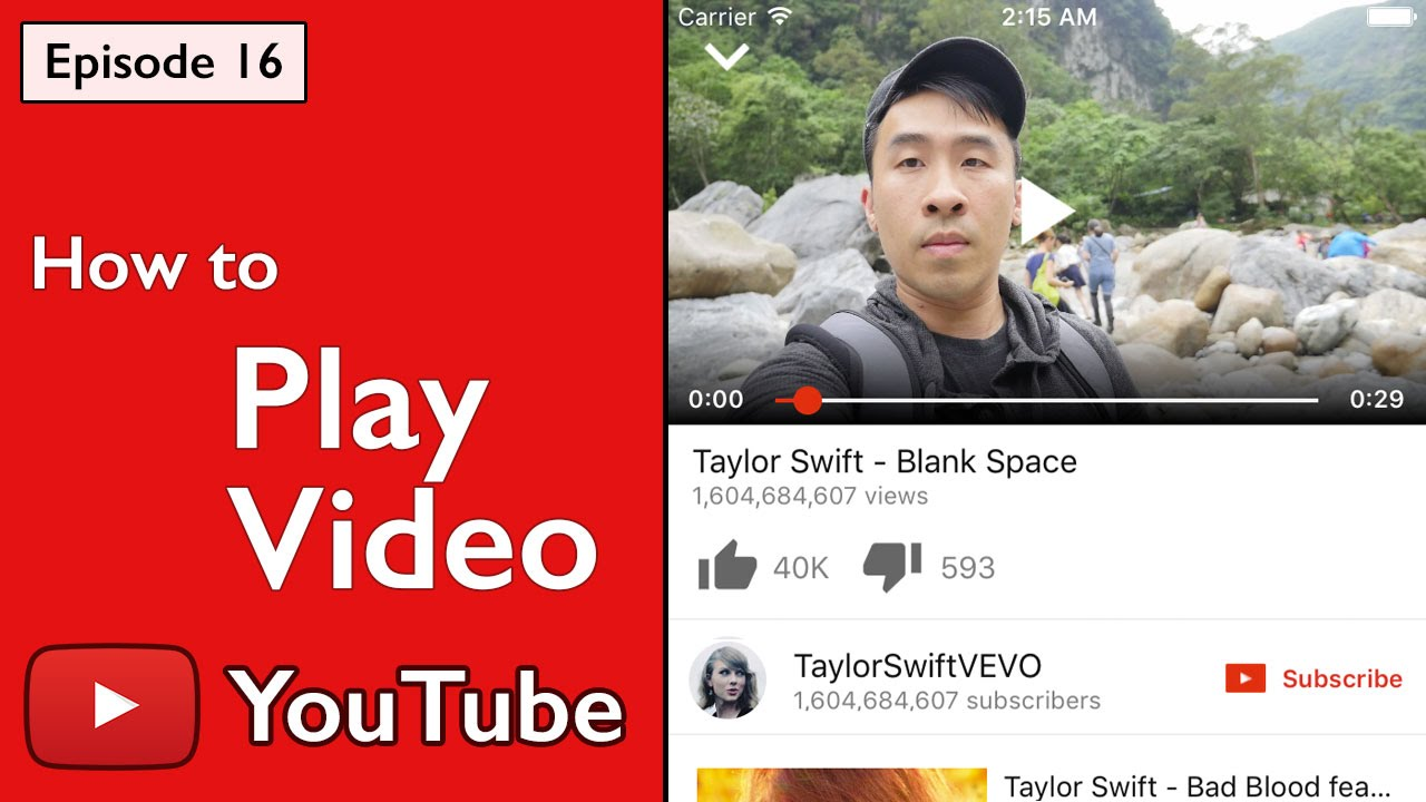 Swift: YouTube - How to Play Video with Animation using