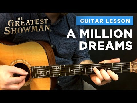 🎸 A Million Dreams • Guitar lesson w/ chords & intro tabs (Greatest Showman)