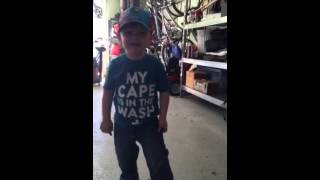 3 year old sings Beatles Happy Birthday song